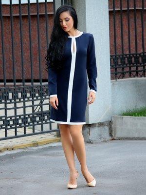 Платье сине-молочного цвета | 3834779