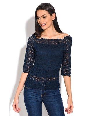 Блуза синяя | 3836767