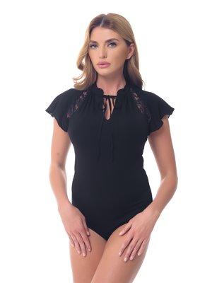 Блуза-боди черная | 3845699