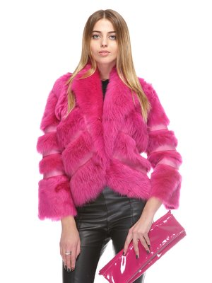 Дубленка розовая | 3841136