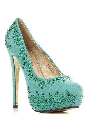 Туфлі бірюзові | 3845660