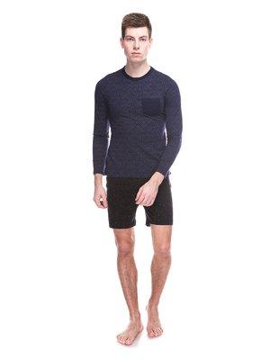 Джемпер темно-синий пижамный | 3644901