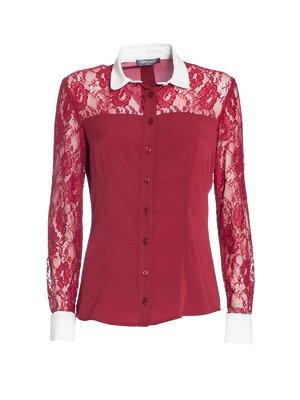 Блуза бордовая | 3852682