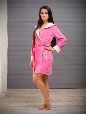 Халат розовый с вышивкой | 3852218