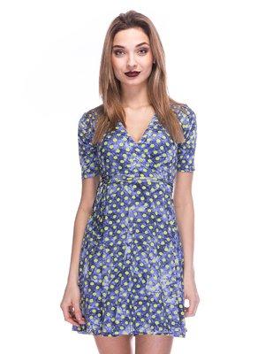 Сукня кольору індиго в горох | 2984009