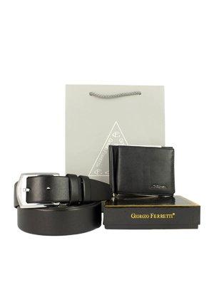 Набор подарочный: портмоне, ремень и пакет | 3848176