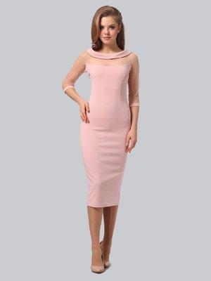 Сукня кольору пудри | 3851941