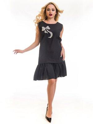 Платье черное с рисунком | 3862646