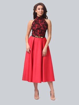Платье кораллово-черное   3851917