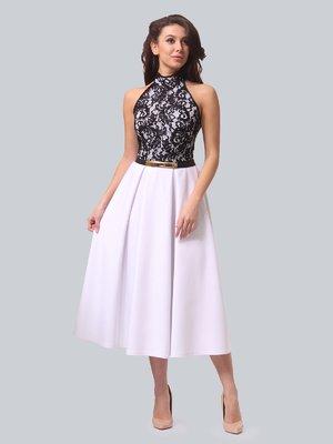 Платье бело-черное | 3851919