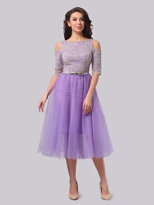 Платье сиреневое | 3851928
