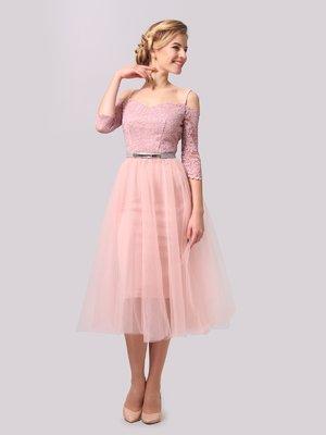 Сукня кольору пудри | 3863283