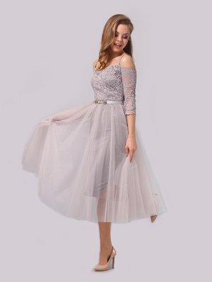 Сукня світло-сіра | 3863288