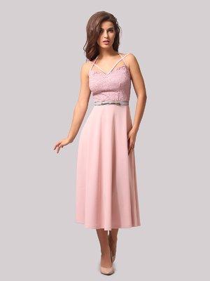 Платье цвета пудры | 3863291