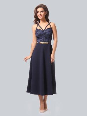 Платье темно-синее | 3863296