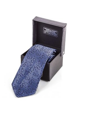 Краватка синя з малюнком | 3866534