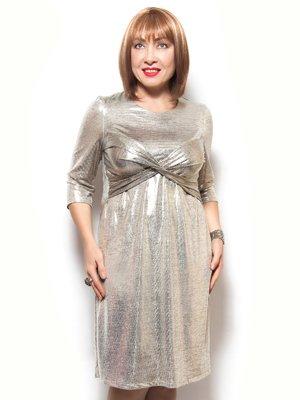 Платье серебристое | 3866775