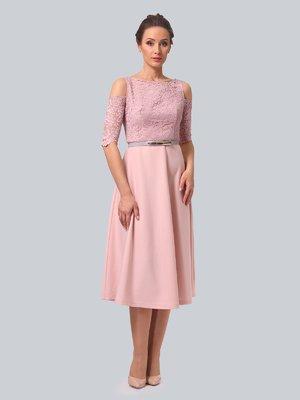 Сукня кольору пудри | 3863316