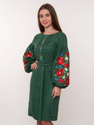 Сукня зелена з вишивкою | 3866988