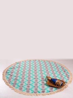 Полотенце пляжное ручной работы с бахромой | 3826294