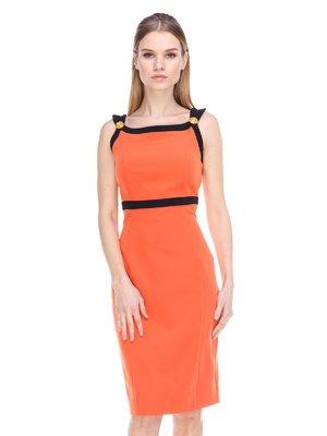 Сукня помаранчево-чорна | 3858945