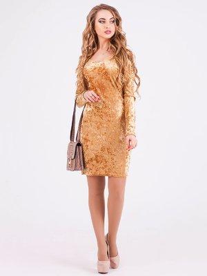 Платье золотистое | 3871196
