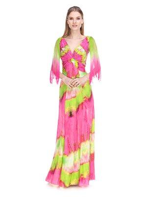 Сукня рожево-салатова | 3858948