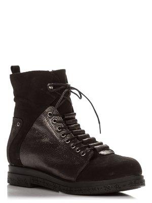Ботинки черно-никелевого цвета   3863480