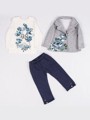 Комплект на флісі: жакет, реглан і штани   3877578