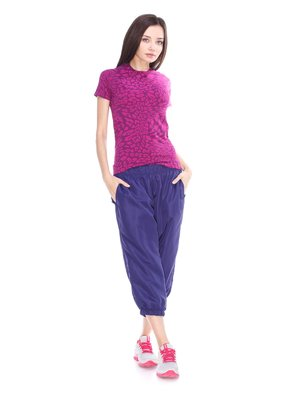Капри фиолетовые спортивные | 3877241