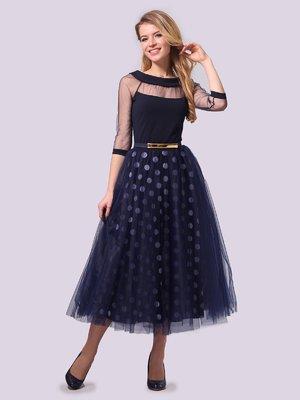 Платье темно-синее | 3879714