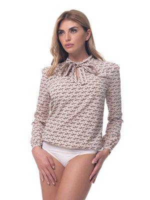 Блуза-боди бежево-коричневая | 3880162