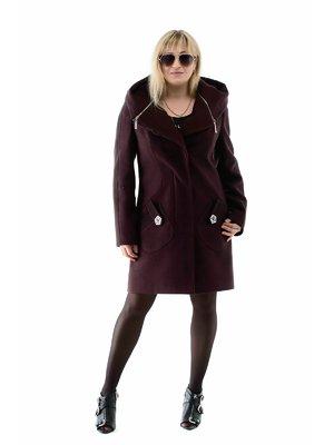 Пальто кольору марсала   3891656