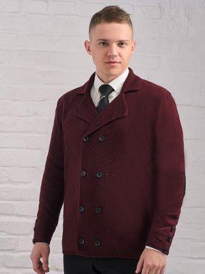 Пиджак бордовый | 3892345