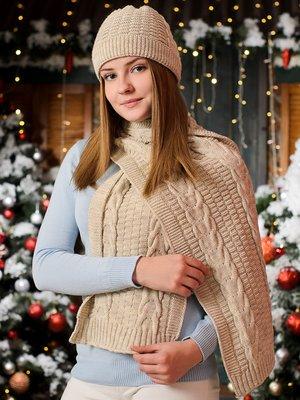 Комплект: шапка и шарф | 3892428