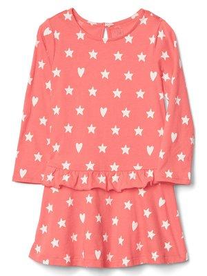 Сукня коралова в принт | 3897833