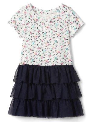 Сукня синьо-біла в квітковий принт | 3897841
