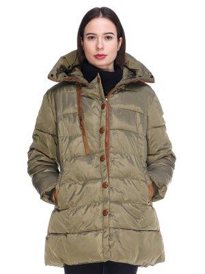 Пальто цвета хаки | 3897732