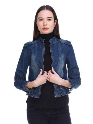 Куртка синяя джинсовая | 3897725