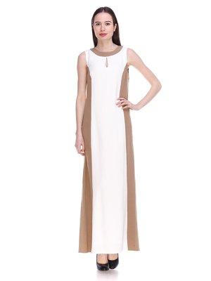 Сукня біло-бежева | 3897684