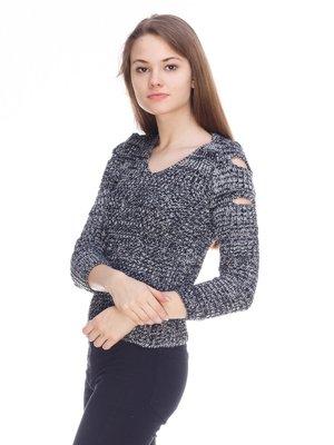Пуловер темно-серый | 3879074