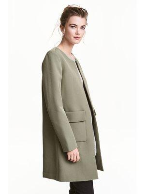 Пальто цвета хаки | 3897261