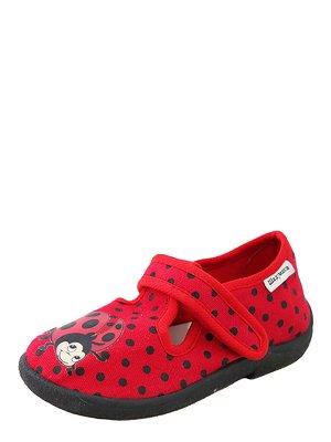 Тапочки червоні з принтом | 3902582