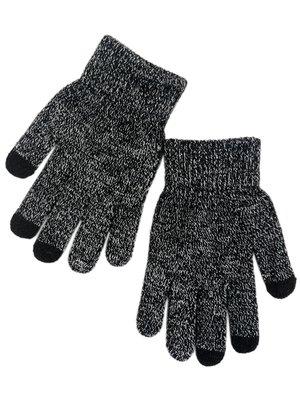 Перчатки черно-белые сенсорные | 3903750