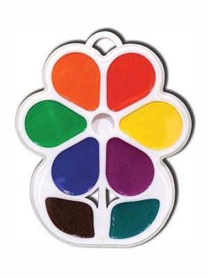 Краски акварельные «Цветочек» (8 цветов) | 3906626