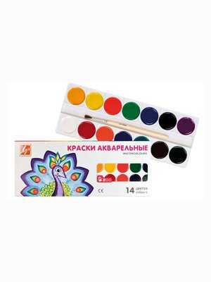 Краски акварельные «Мини» (14 цветов) | 3906648