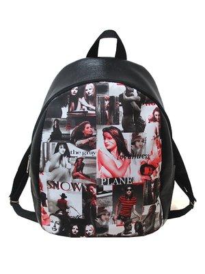 Рюкзак черный в принт | 3901856