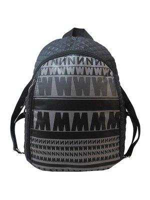 Рюкзак черный с принтом | 3901858