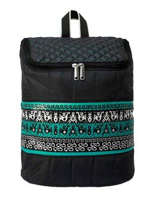 Рюкзак черный с орнаментом | 3901863