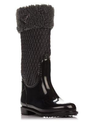 Сапоги черные с мехом | 3908669